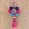 "Multicolor tassel, handmade, boho bag charm, tribal, bohemian, moroccan size 5"" or 12.5 cms"