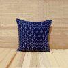 Jaali- Indigo cushion cover,cotton pillow cover