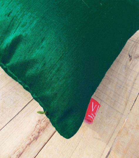 """Silk pillow, dark teal color, lumbar pillowcover, size 12""""X20"""""""