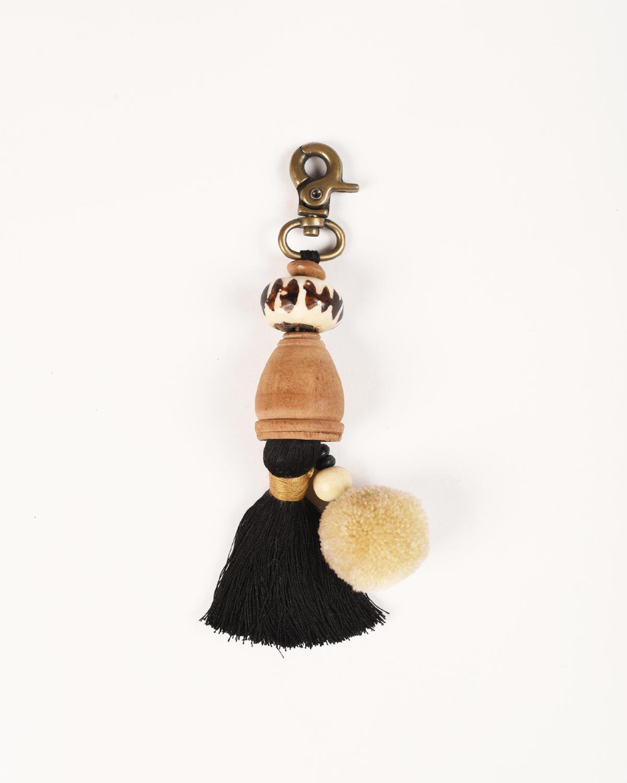 "Tribal tassel, handmade, boho bag charm, gypsy charm, earth colours, size 5"" or 12.5 cms"