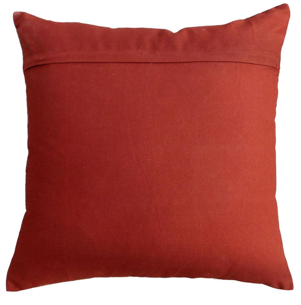 "SALE 50% discount, linen pillow cover, deer, tribal, bohemian, Indian, craft, folk motif, appliqued & embroidered pillow size 16""X 16"""